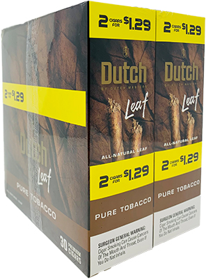 Dutch Leaf Pure Tobacco 30 Packs of 2