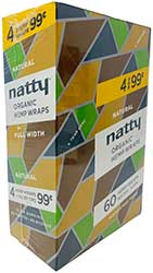 Natty Organic Hemp Wraps Natural 15 4pks