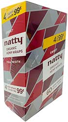 Natty Organic Hemp Wraps Sweet 15 4pks