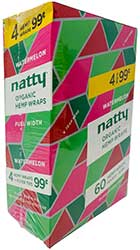 Natty Organic Hemp Wraps Watermelon 15 4pks