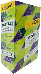 Natty Organic Hemp Wraps White Grape 15 4pks