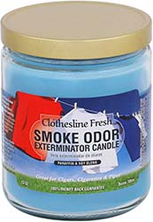 Smoke Odor Exterminator Candle Clothesline Fresh