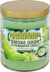 Smoke Odor Exterminator Candle Cool Cucumber and Honeydew