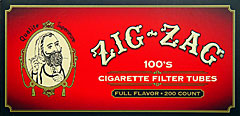Zig Zag Cigarette Tubes Full Flavor 100 200ct Box