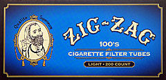 Zig Zag Cigarette Tubes Light 100 200ct Box