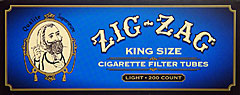Zig Zag Cigarette Tubes Light King Size 200ct Box